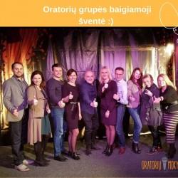 Suaugusiųjų Oratorių grupės išleistuvės Kauno mažajame teatre su lektoriumi Ramūnu Šimukausku... :)