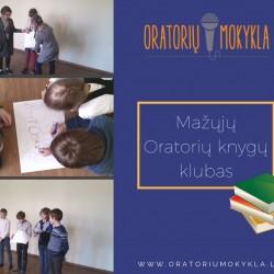Su mažaisiais Oratoriais bendraujame apie knygas, mėgiamus jų personažus... vaikai mėgsta pasakas ir stebuklingų galių turinčius veikėjus... ;)