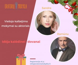 Kalėdinė dovana - viešojo kalbėjimo mokymai su aktoriais Sandra Daukšaite-Petrulėne ir Ramūnu Šimukausku (1)